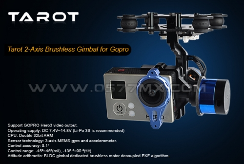 TAROT Gopro3 Two-Axis Brushless Gimbal W/Gyro TL68A00