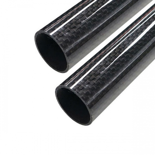 30mm 3K Roll wrapped carbon fiber tube 28*30*500mm (2 PCS)