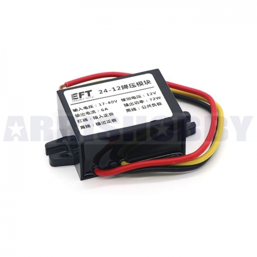 24V to 12V Step-Down Converter Reducer Regulator Module 6A