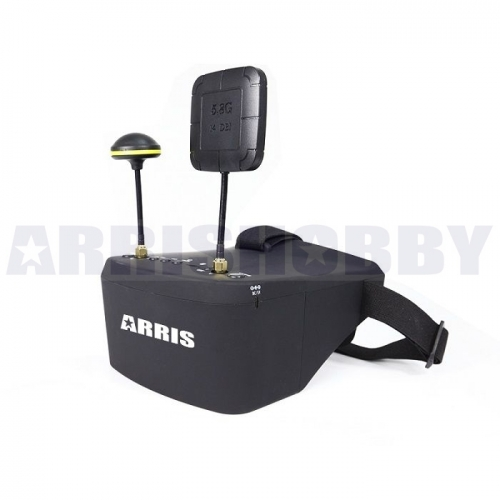 ARRIS EV800D 5inch 5.8g HD DVR 800 x 480 FPV Goggles w/ Receiver Built-in Battery