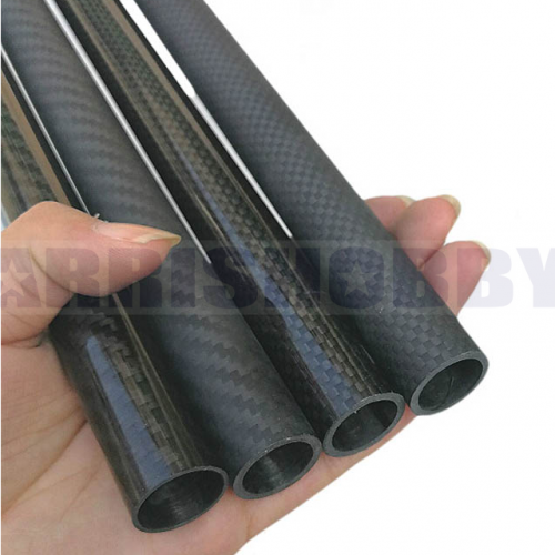 30mmx24mmx500mm 3K Roll Wrapped 100% Carbon Fiber 30mm Carbon Fiber Tube (2 PCS)