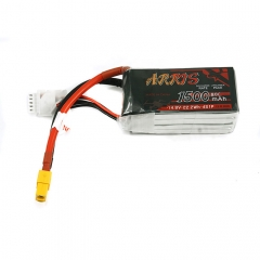 ARRIS 4S 14.8V 1500mAh 80C Graphene LiPo Battery for RC Drones