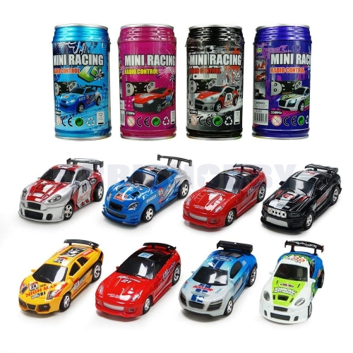 RCWING Multicolor Coke Can Mini RC Radio Remote Control Micro Racing Car Hobby Vehicle Toy Gift (1pcs)