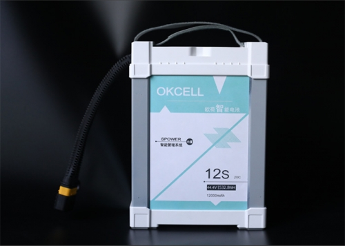OKCELL 12S 44.4V 12000mAh 20C Intelligent Battery for UAV Drones